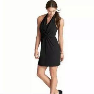 Athleta Womens Go Anywhere Halter Black Dress